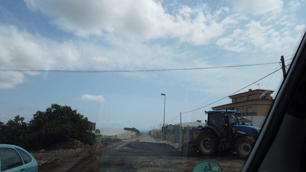 Costa Calida - Ein kleine Schlammlawine verschwindet