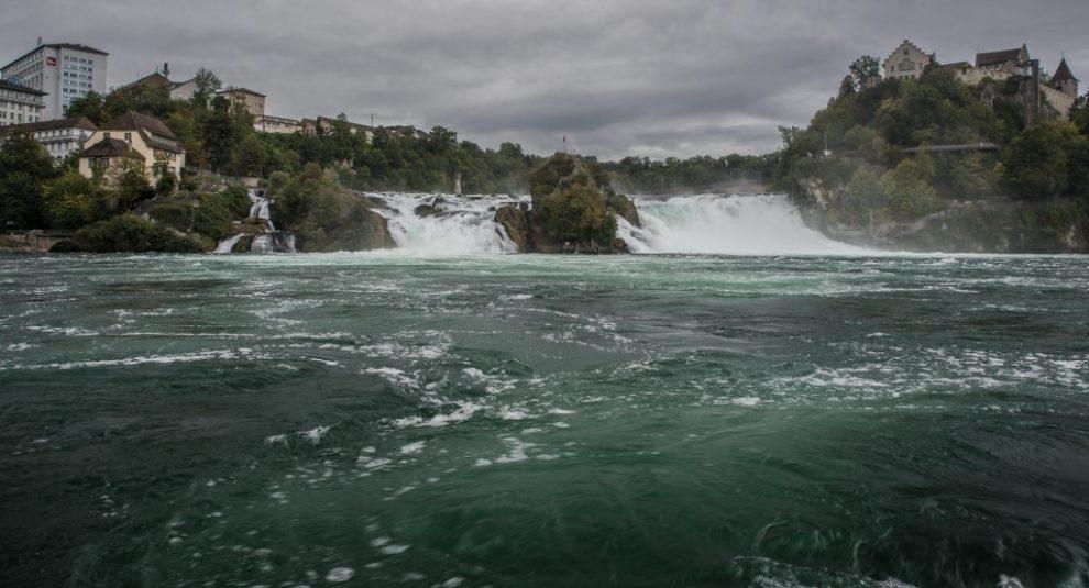 Rheinfall - Anlauf zum Katarakt