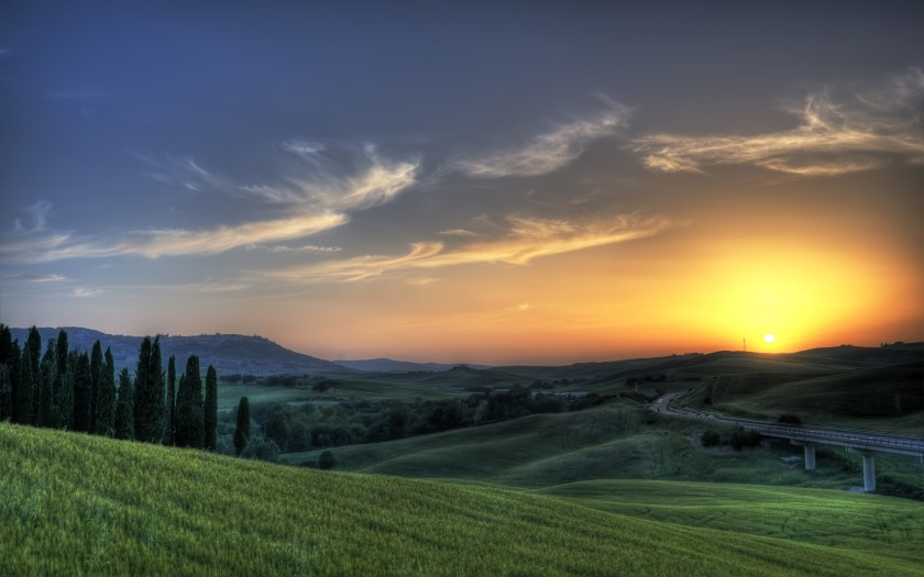 Tuscan sun wallpaper