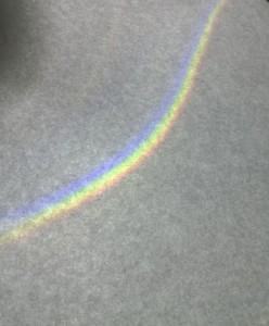 Ein kleiner Regenbogen.