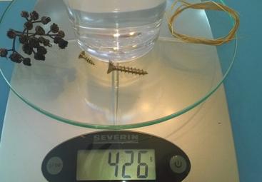Alles zusammen wiegt 426 Gramm.