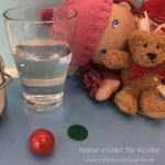 """Ein Experiment für Kinder: """"Die Tomate taucht, schwebt, schwimmt"""""""