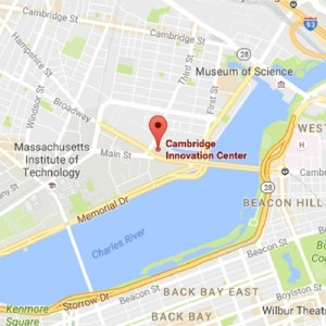 Our location at the CiC - One Broadway, Cambridge, MA
