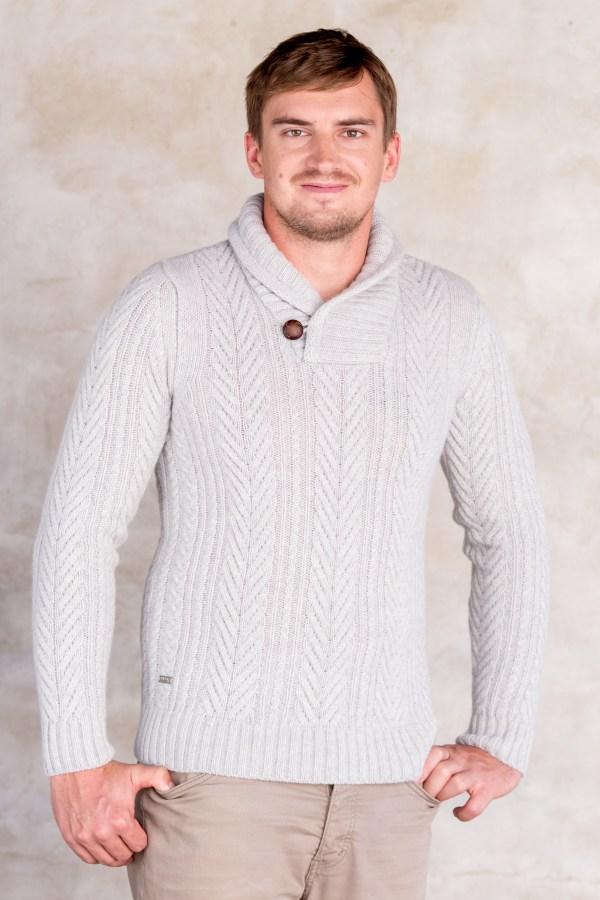 aran, neule, neulepaita, miesten paita, palmikkoneule, huivikaulus, paita, villapaita, miesten villapaita, palmikkopaita