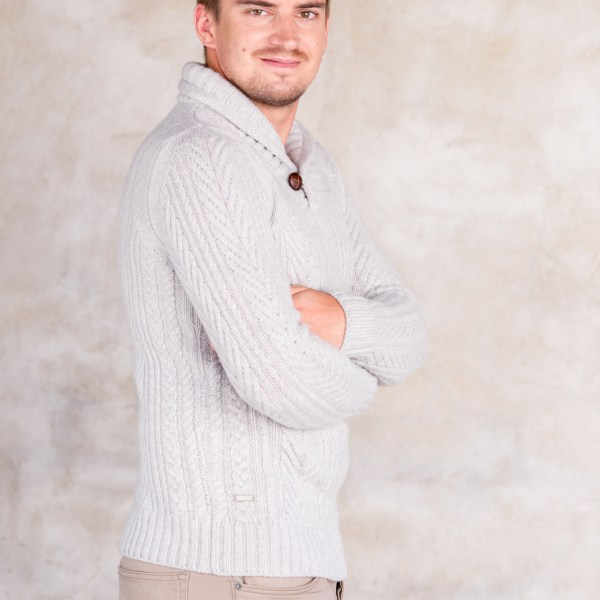 aran, kampsun, kootud kampsun, meeste kampsun, palmikutega kampsun, sallkraega kampsun, sweater, villane kampsun, villane meeste kamspun, cable knit sweater, jumper, knitted sweater, men´s sweater, men´s woollen sweater, shawl collar sweater, sweater, wool sweater