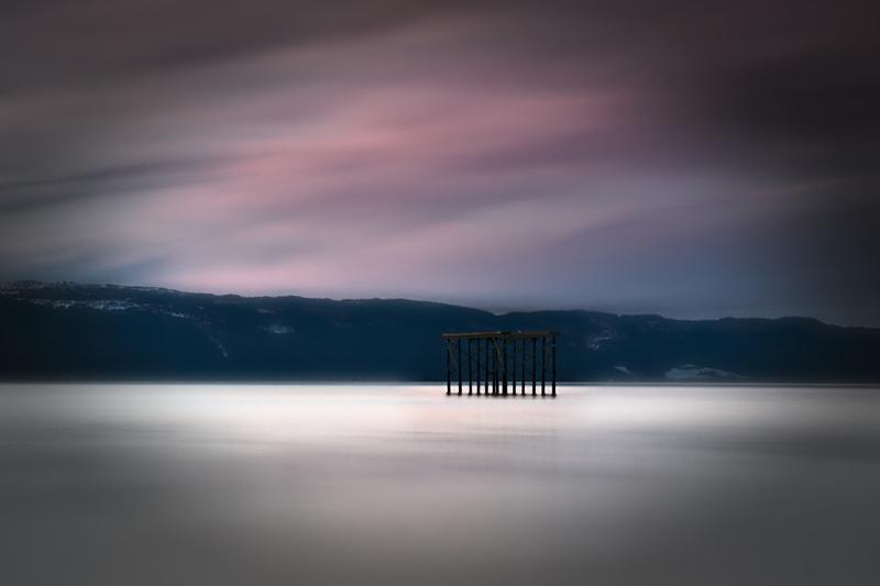Langzeitbelichtung Fjord