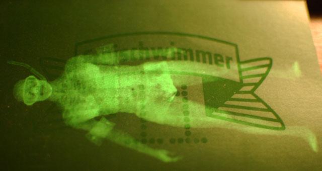 Freischwimmer Flyer; Foto Petra Gschwendtner