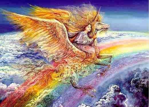 İris yunan mitolojisinde Gökkuşağı Tanrıçasıdır.