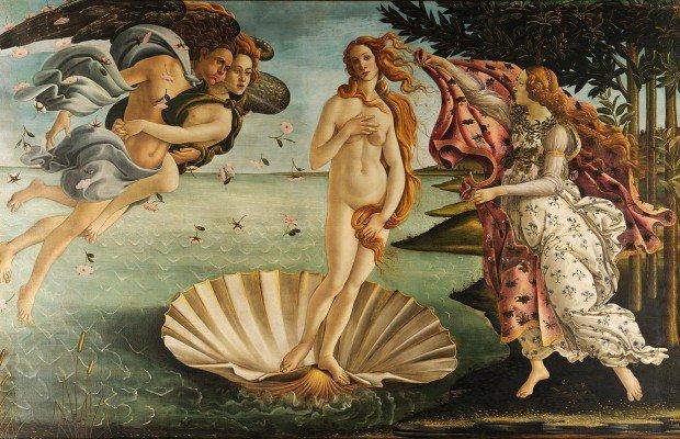 Afrodit (Venüs) köpüklerden meydana geldiği an.