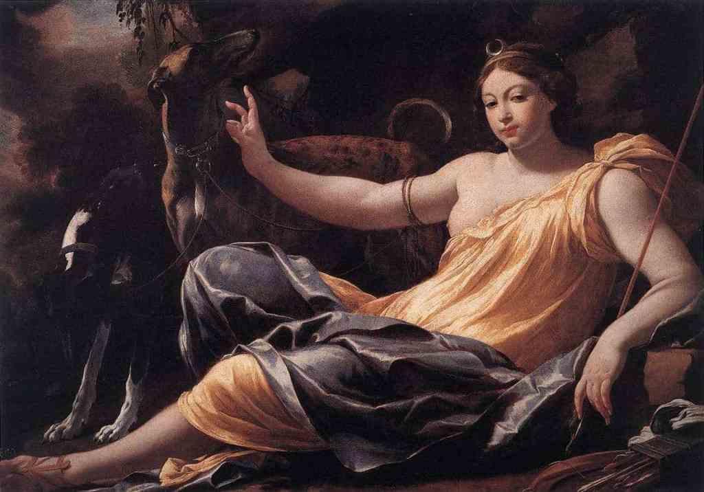 Artemis /Diana) Vahşi doğanın ve doğum yapan kadınlar tanrıçası.