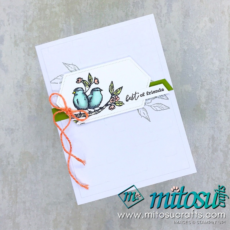 Free As A Bird Best of Friends Card for Stamp Review Crew from Mitosu Crafts
