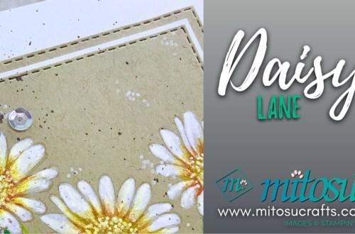 Daisy Lane Watercolour Pencil Card Idea from Mitosu Crafts