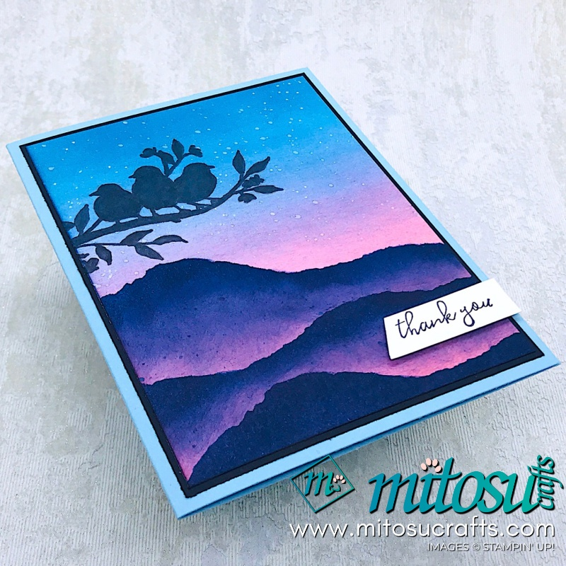 Free As A Bird Silhouette Landscape Stampin' Up! from Mitosu Crafts