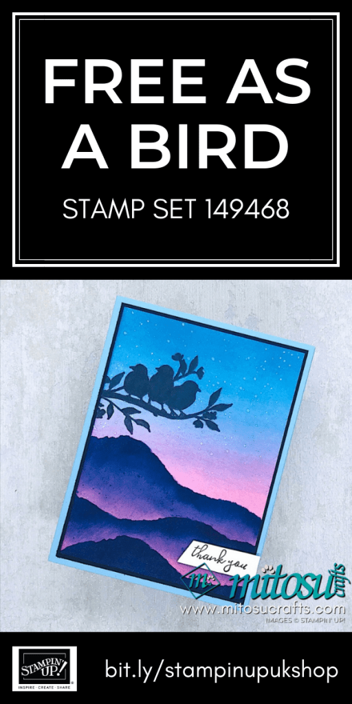 Free As A Bird Stampin' Up! from Mitosu Crafts