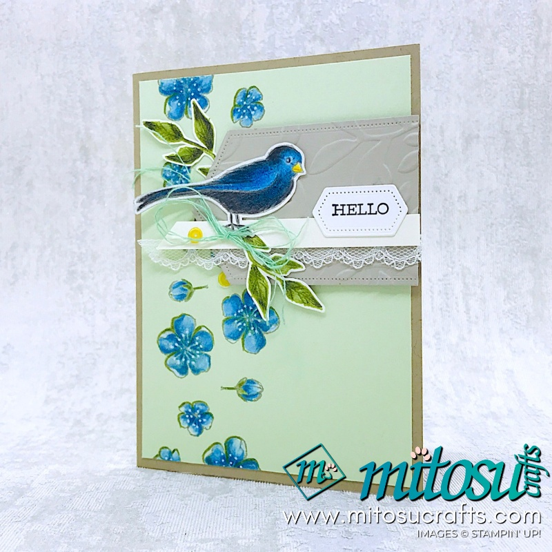 Hello Free As A Bird with Watercolor Pencils for Stamp Review Crew from Mitosu Crafts