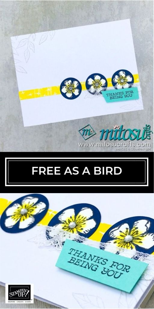 Free As A Bird by Stampin' Up! with Stitched Nested Labels Dies. Order online from Mitosu Crafts 24/7