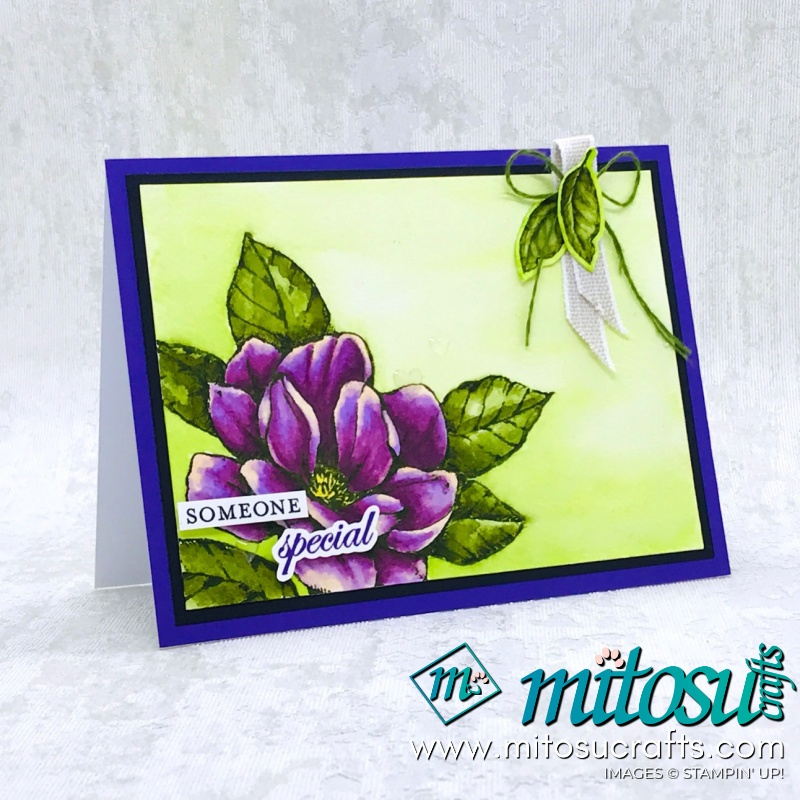 Colouring Good Morning Magnolia by Stampin' Up! Card Idea for Stamp Review Crew. Order cardmaking products online from Mitosu Crafts 24/7