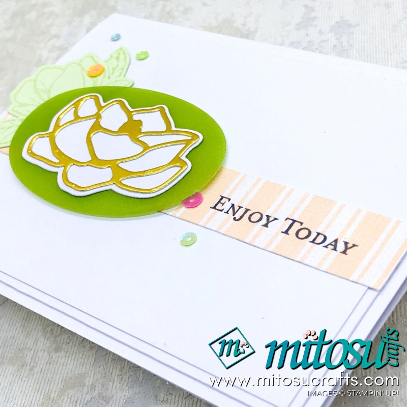 Good Morning Magnolia Stampin' Up! Card Idea for Stamp Review Crew from Mitosu Crafts
