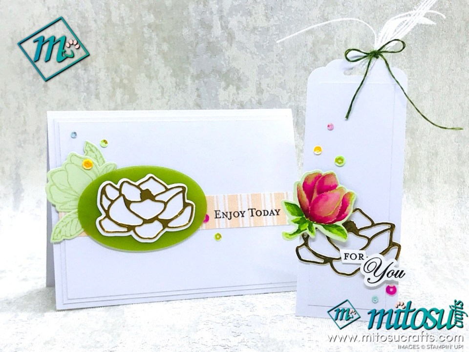 Good Morning Magnolia Stampin' Up! Card and Gift Tag Projects for Stamp Review Crew from Mitosu Crafts