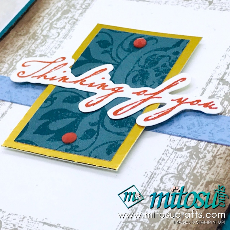 Thinking of You Distress Card with Woven Heirlooms by Stampin' Up! from Mitosu Crafts