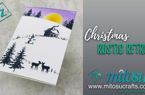 Snow Front Christmas Card Inspiration from Mitosu Crafts