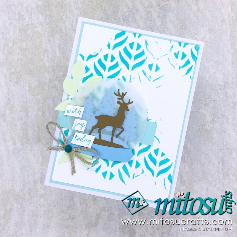 Snow Globe Scenes with Basic Pattern & Coloured Embossing Paste Background for Paper Craft Crew from Mitosu Crafts