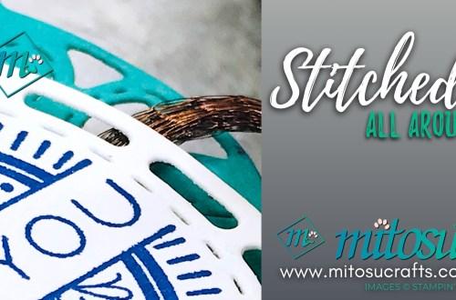 Stitched All Around Stampin' Up! Treat Holder from Mitosu Crafts