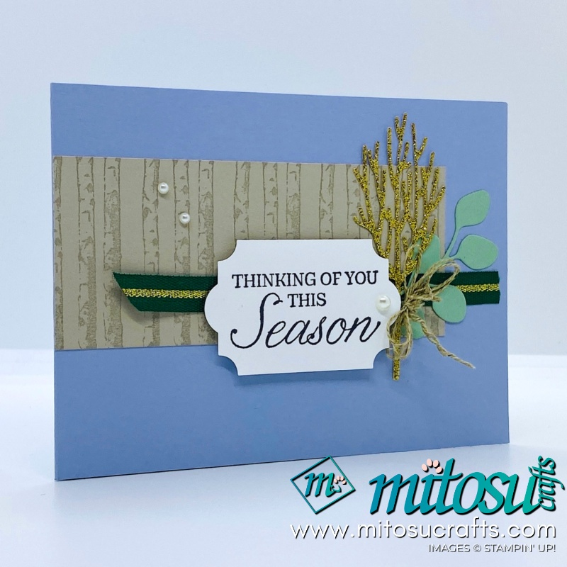 Winter Woods Stampin Up! Project Ideas for Stamp Review Crew from Mitosu Crafts WOW Twisting Pop Up Cards