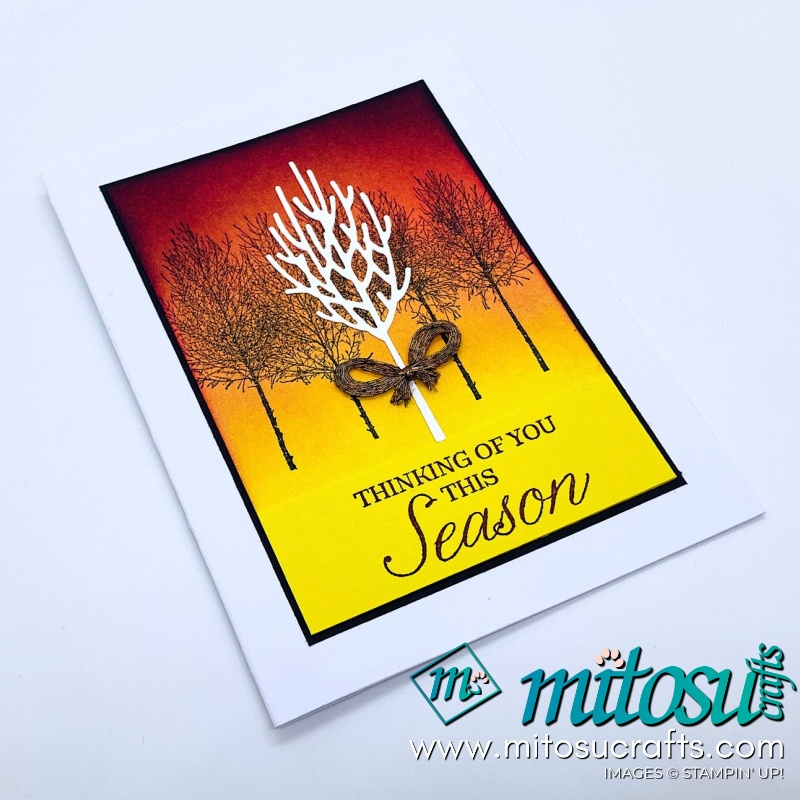 Winter Woods Stampin Up! Project Ideas for Stamp Review Crew from Mitosu Crafts Autumn Card