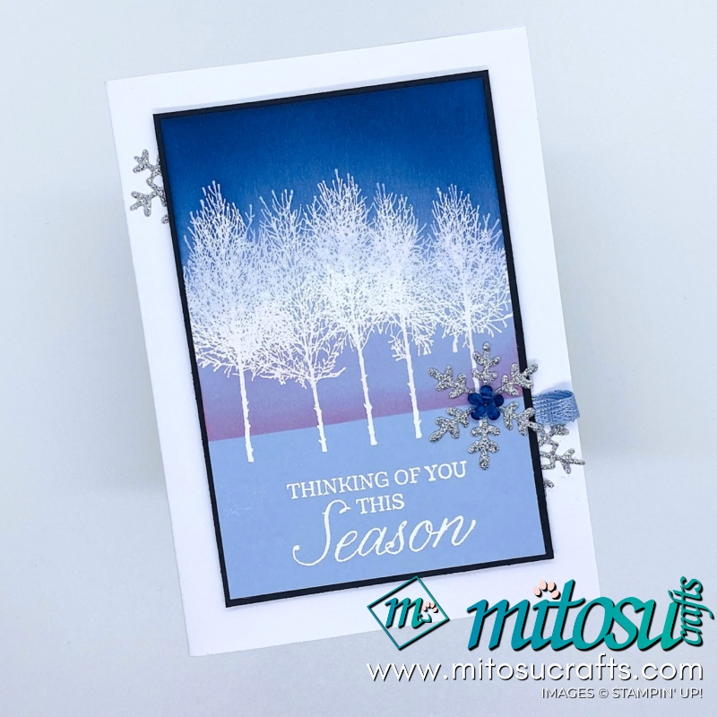 Winter Woods Stampin Up! Project Ideas for Stamp Review Crew from Mitosu Crafts 7 Winter Card