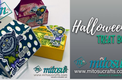 Halloween Treat Box Handmade by Mitosu Crafts