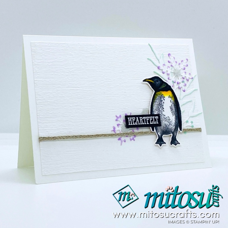 Playful Penguins and Frosted Frames Stampin Up! Card Ideas for Creating Kindness from Mitosu Crafts