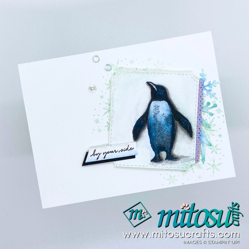 Playful Penguins Stampin Up! Card for Paper Craft Crew from Mitosu Crafts 2