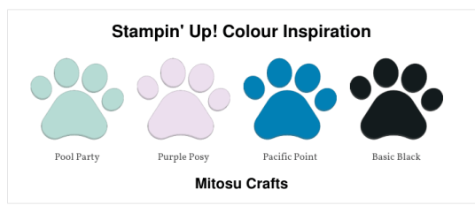 Stampin' Up! Colour Inspiration from Playful Penguins Card for Paper Craft Crew by Mitosu Crafts