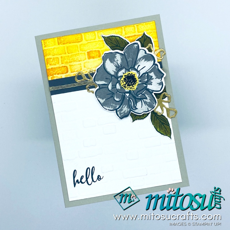 Wild Rose Stampin Up! Card for Paper Craft Crew Challenge from Mitosu Crafts