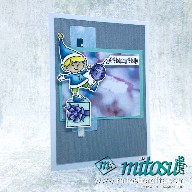 #Elfie Card Stampin Up! Inspiration for Paper Craft Crew from Mitosu Crafts
