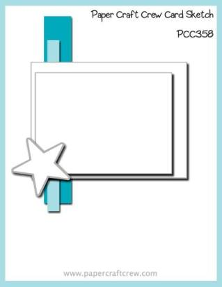 Paper Craft Crew Card Sketch Layout Inspiration Challenge #PCC358 from Mitosu Crafts