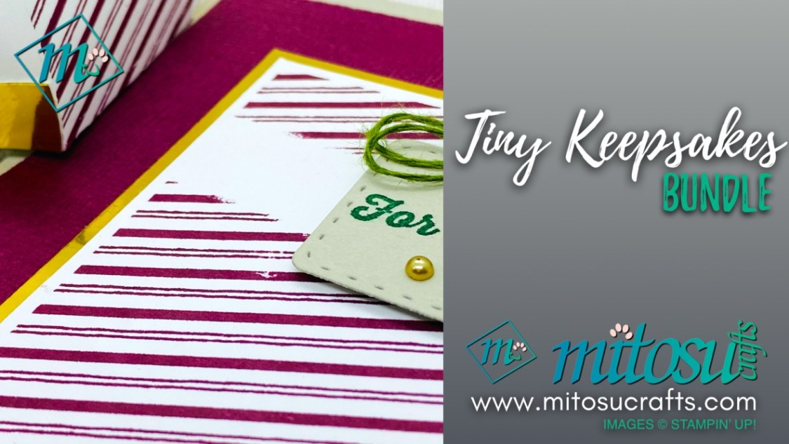 Tiny Keepsakes Card and Mini Curvy Box