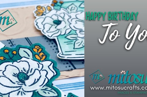 Happy Birthday To You Sale-A-Bration 2020 Swirly Frames Cake Card Idea for Stamp Review Crew from Mitosu Crafts