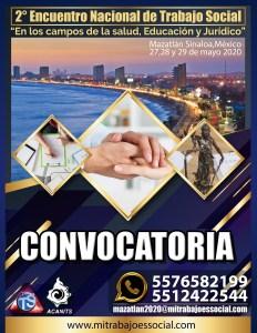?♀Ya está Disponible la Convocatoria para el 2⃣° Encuentro Nacional de #TrabajoSocial a realizarse (Y) en Mazatlán,Sinaloa México ??????☀? ?♂pueden Solicitarla y pedir más información a: ? mazatlan2020@mitrabajoessocial.com ✅ (+521) 55 7658 2199 ✅ (+521) 55 1242 2544 ✅ (+521) 998 198 1997 ? mitrabajoessocial.com #mitrabajoessocial #TrabajoSocial #Mits #TS #mazatlán