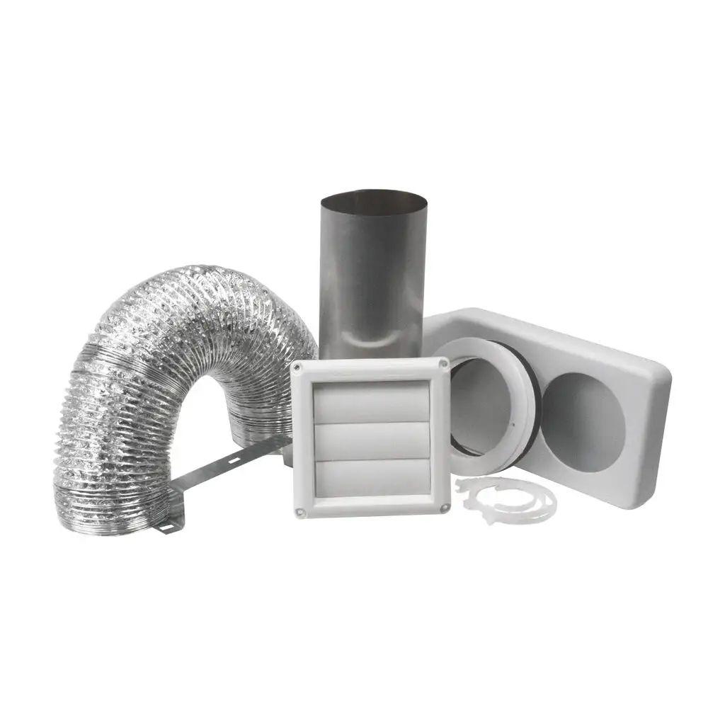 deflecto universial dryer vent kit white