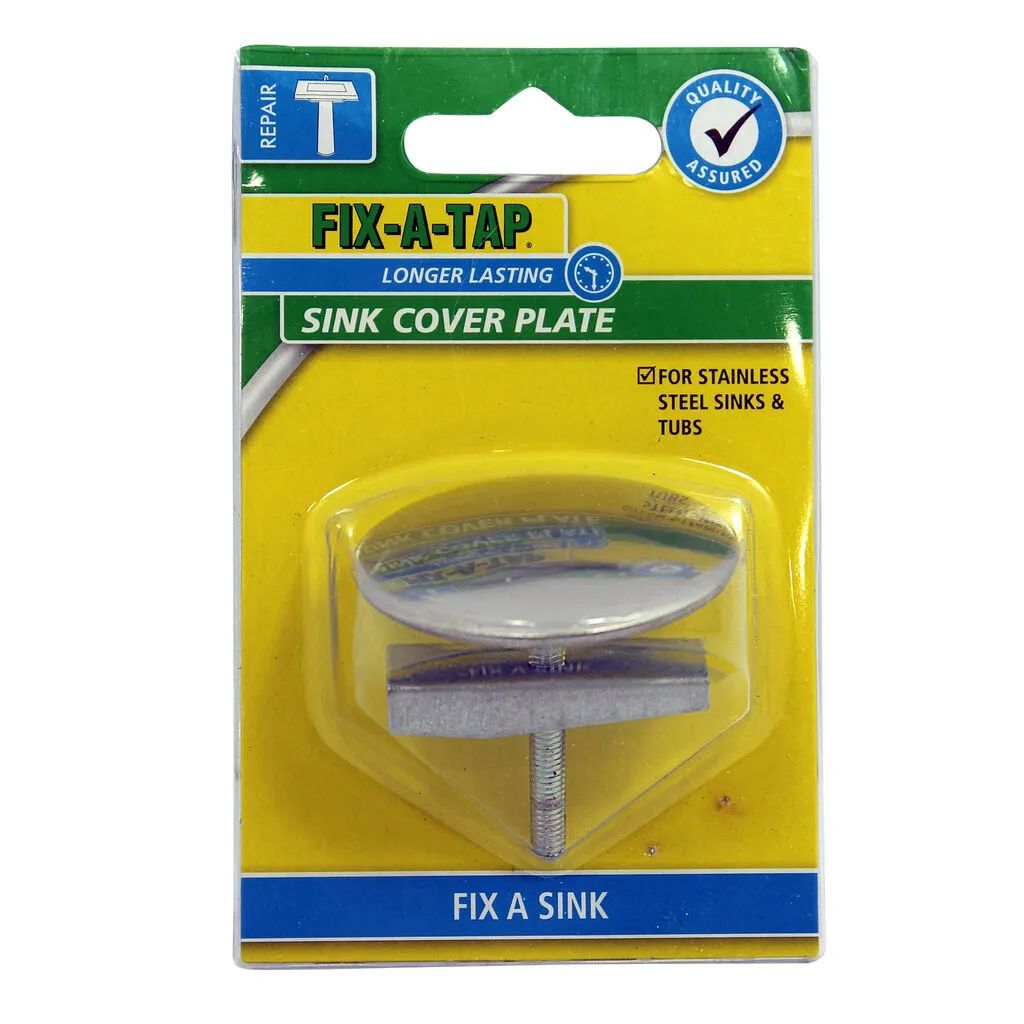 fix a tap sink cover plate stainless steel 50mm