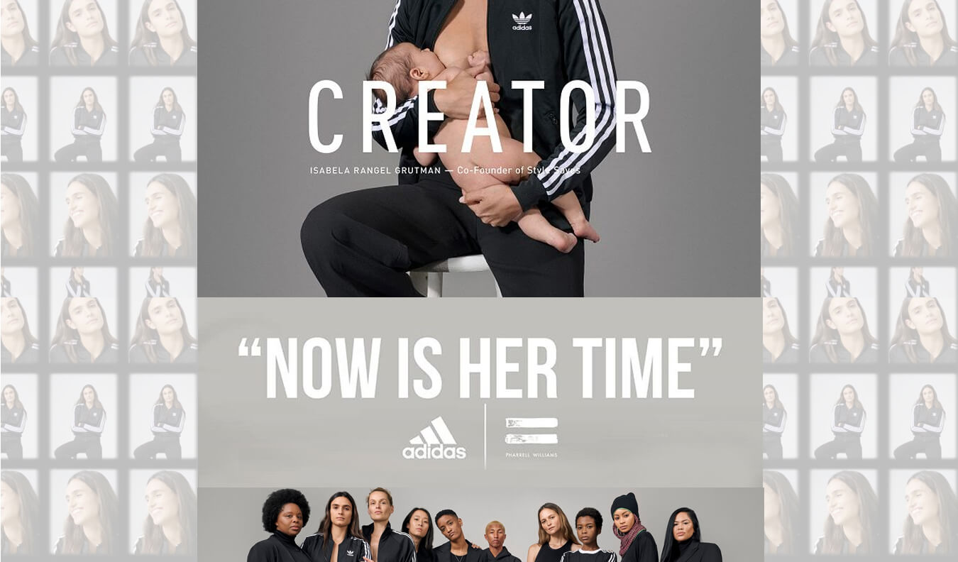 adidas now is her time - breastfeeding