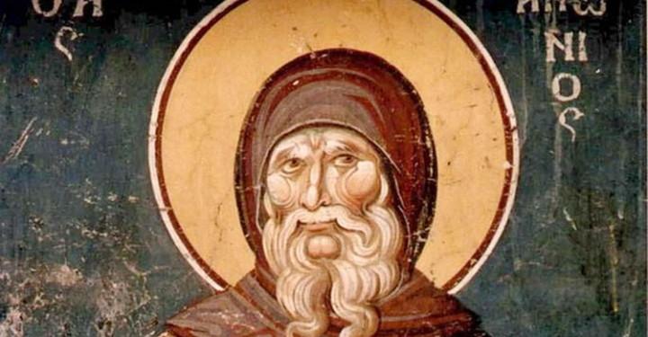 Sveti-Antonije-Veliki-detalj-freske-iz-manastira-Ohrid-Makedonija