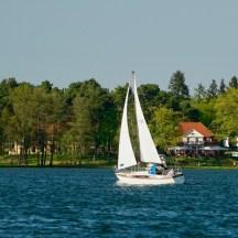 AHOI Segeln Scharmützelsee Segelschiff vor dem Theater am See