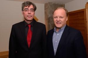 """Stephan Werhahn (rechts), designierter Bundestags-Sitzenkandidat der """"Freien Wähler"""", Achim von Michel (BVMW Bayern)"""