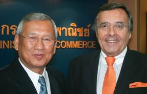 Gespräch mit Thailands stellvertretenden Ministerpräsidenten und Wirtschaftsminister Niwattumorong Boonsongpaisan im Wirtschaftsministerium in Bangkok