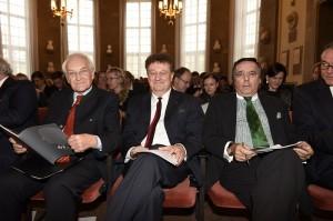 v.l.n.r.: Dr. Edmund Stoiber, Prof. Dr. Wolfgang Heckl, Mario Ohoven