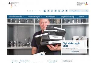 Auf der Website www.mittelstand-digital.de präsentiert das BMWi die Schwerpunkte und Zielsetzungen seiner Förderinitiative.