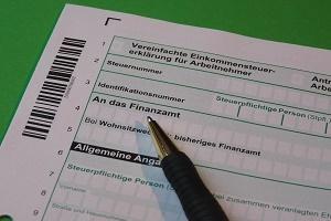Steuererklärung Foto Formular